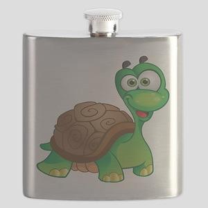 Funny Cartoon Turtle Flask