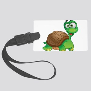 Funny Cartoon Turtle Luggage Tag