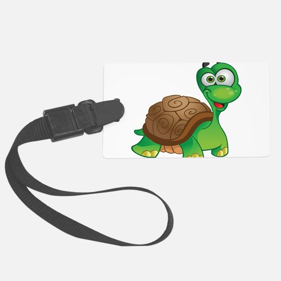 Funny Cartoon Turtle Luggage Tag