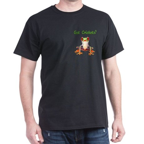 Red Eyed Tree Frog Pocket Black T-Shirt