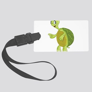 Pointing Turtle Luggage Tag