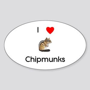 I love chipmunks Sticker (Oval)