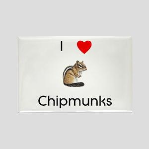 I love chipmunks Rectangle Magnet