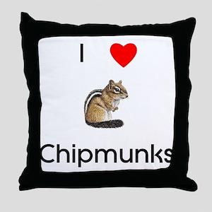 I love chipmunks Throw Pillow