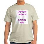 Deployed Husband Grumpy Wife Ash Grey T-Shirt