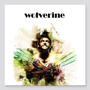 "wolverine Square Car Magnet 3"" x 3"""