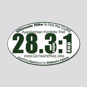 28.3:1 Miles: 1 Day 20x12 Oval Wall Decal