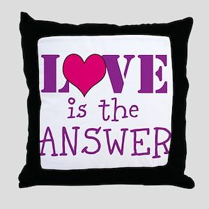Love print Throw Pillow