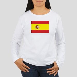 Spanish Flag Women's Long Sleeve T-Shirt