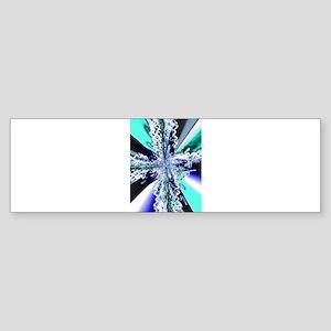 Electric Ocean Swirl Cross Bumper Sticker