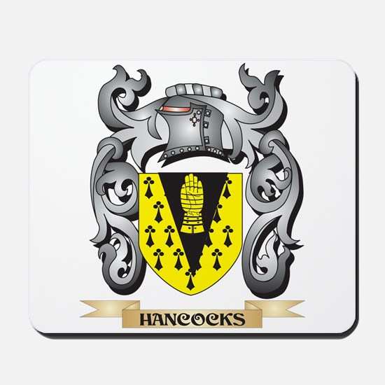 Hancocks Coat of Arms - Family Crest Mousepad