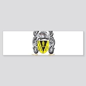Hancocks Coat of Arms - Family Cres Bumper Sticker
