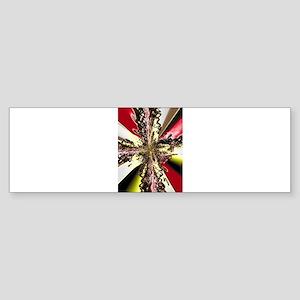 Electric Red Cross Bumper Sticker