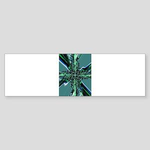 Electric Green Cross Bumper Sticker