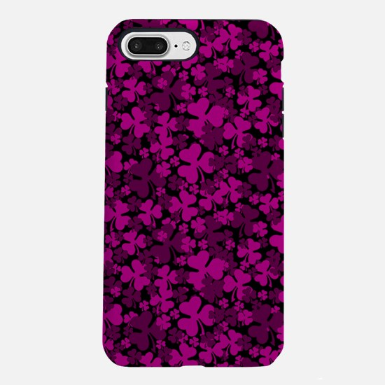 Pink Clover iPhone 7 Plus Tough Case
