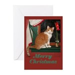 Merry Christmas cat Greeting Cards (Pk of 10)