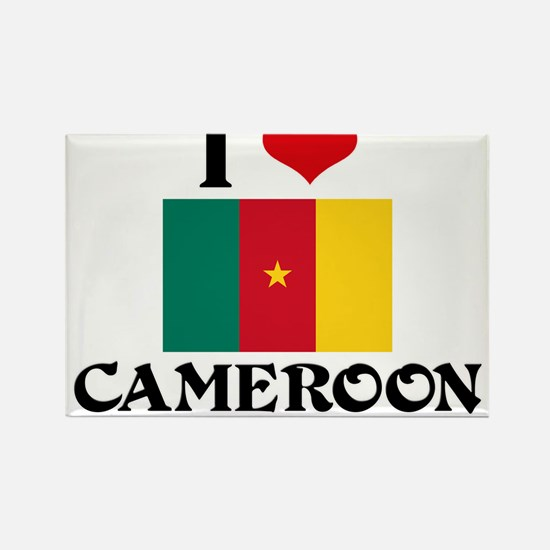 I HEART CAMEROON FLAG Rectangle Magnet