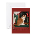 Holiday cat Greeting Cards (Pk of 10)