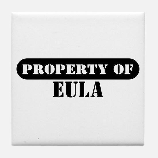 Property of Eula Tile Coaster