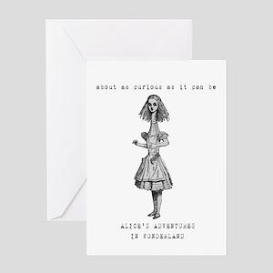 Tall Alice in Wonderland Greeting Card