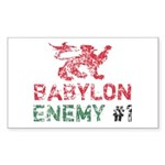 Babylon Enemy #1 Retro Rectangle Sticker