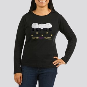 Nothin' Butt Pandas Women's Long Sleeve Dark T-Shi
