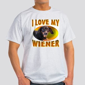 I Love My Weiner Ash Grey T-Shirt