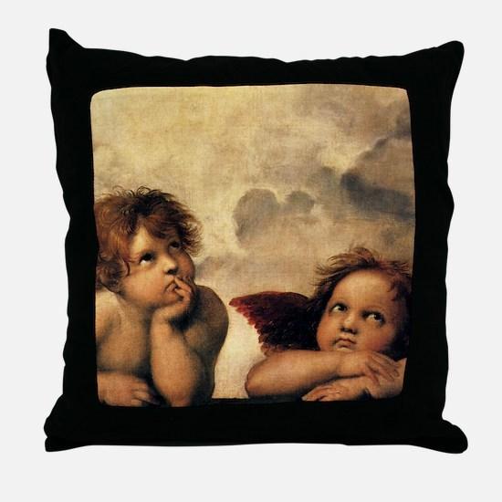 Angels by Rapahel, Vintage Renaissance Art Throw P