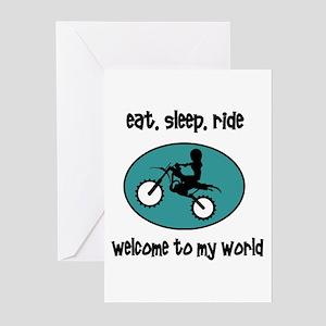 Eat, sleep, ride Greeting Cards (Pk of 10)