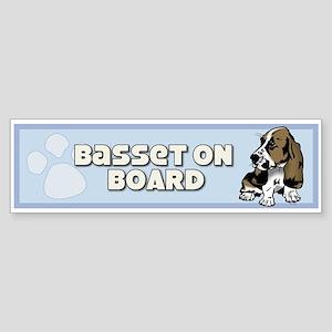 Basset on Board bumper sticker