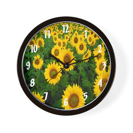 Sunflowers Wall Clock by JWsClockShoppe
