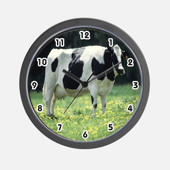 Holstein Cow Wall Clock