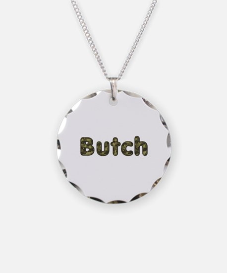 Butch Army Necklace Circle Charm