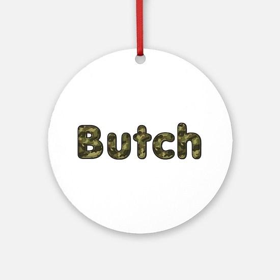 Butch Army Round Ornament