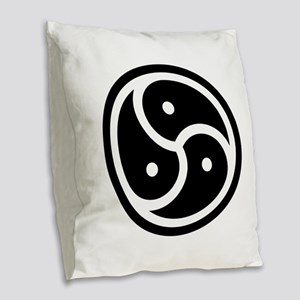 BDSM Symbol Burlap Throw Pillow