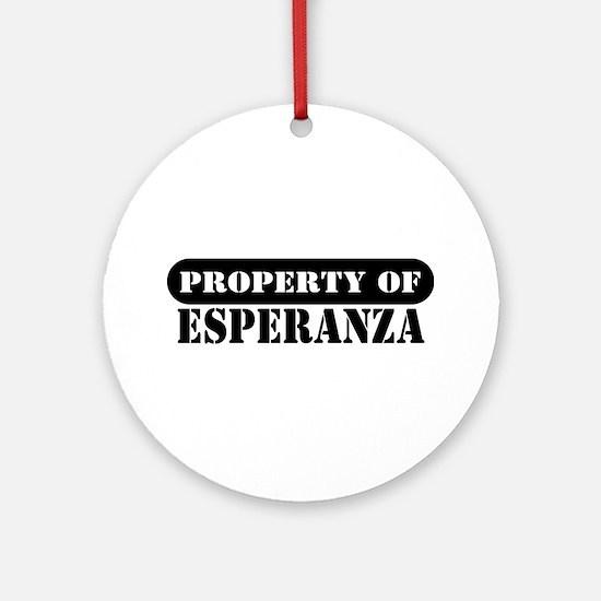 Property of Esperanza Ornament (Round)