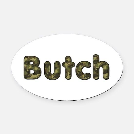 Butch Army Oval Car Magnet