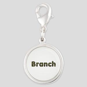 Branch Army Silver Round Charm