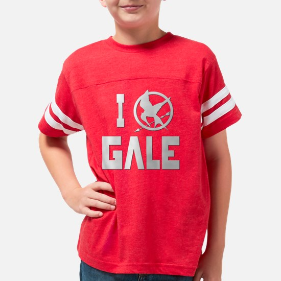 Hunger Games I Love Gale whit Youth Football Shirt