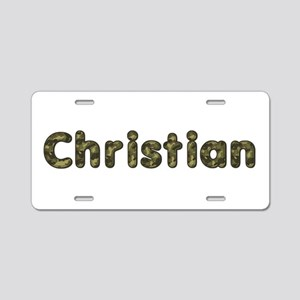 Christian Army Aluminum License Plate