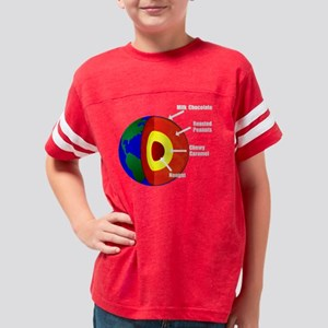 Earth Layers White Youth Football Shirt