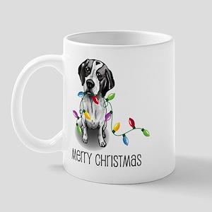 Pointer Christmas Lights Mug