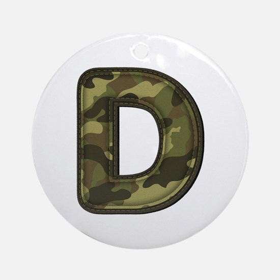 D Army Round Ornament