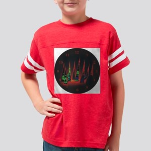 Neon redtips clock Youth Football Shirt
