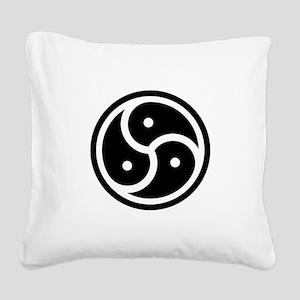 BDSM Symbol Square Canvas Pillow
