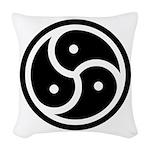 BDSM Symbol Woven Throw Pillow