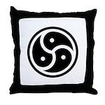 BDSM Symbol Throw Pillow