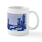 Chess Study in Blue Mug