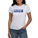 Chess Study in Blue Women's T-shirt
