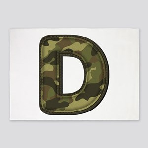 D Army 5'x7' Area Rug